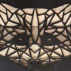 Cadre bois et acier