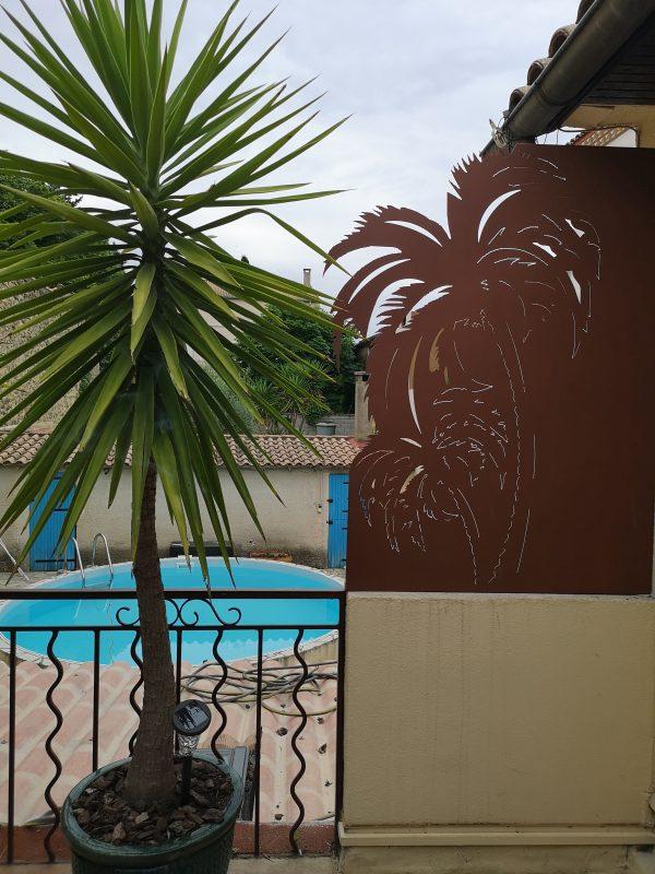 brise vue palmier